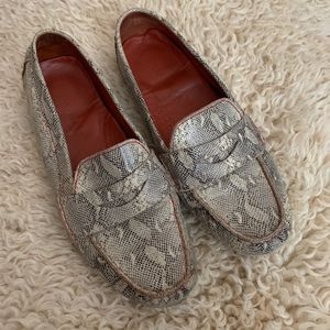 Cole Haan Nike Air Snakeskin Print Loafers